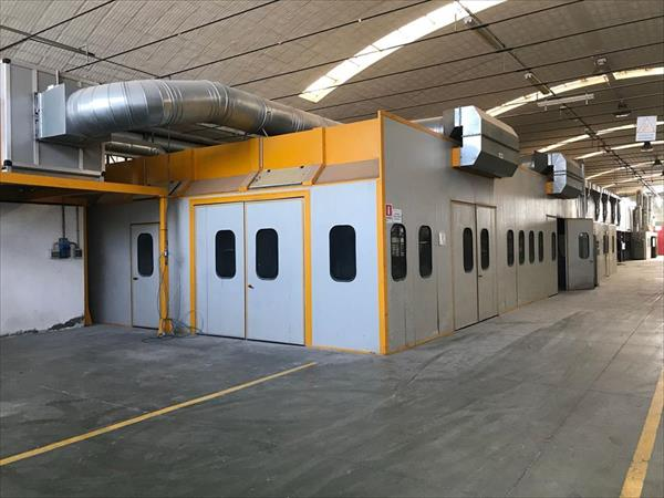 Pressurized spray booth cod. P.007