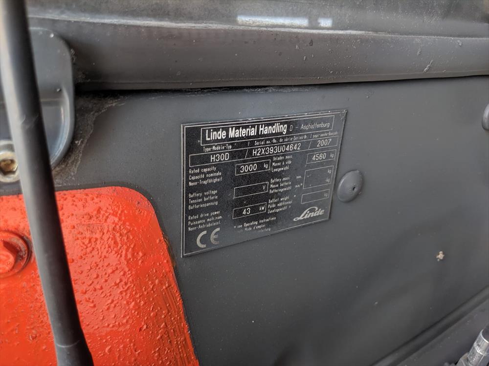 Linde H30 vysokozdvižný vozík - Foto 16