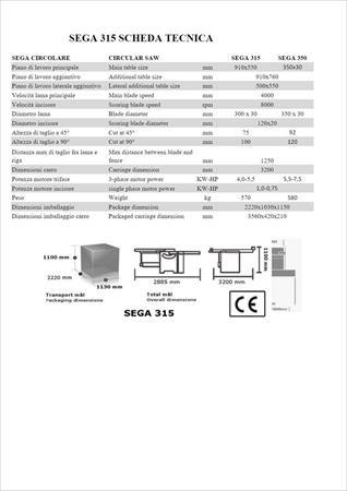Srovnávací stroj MA.CO.2.L.sega 315 - Foto 2