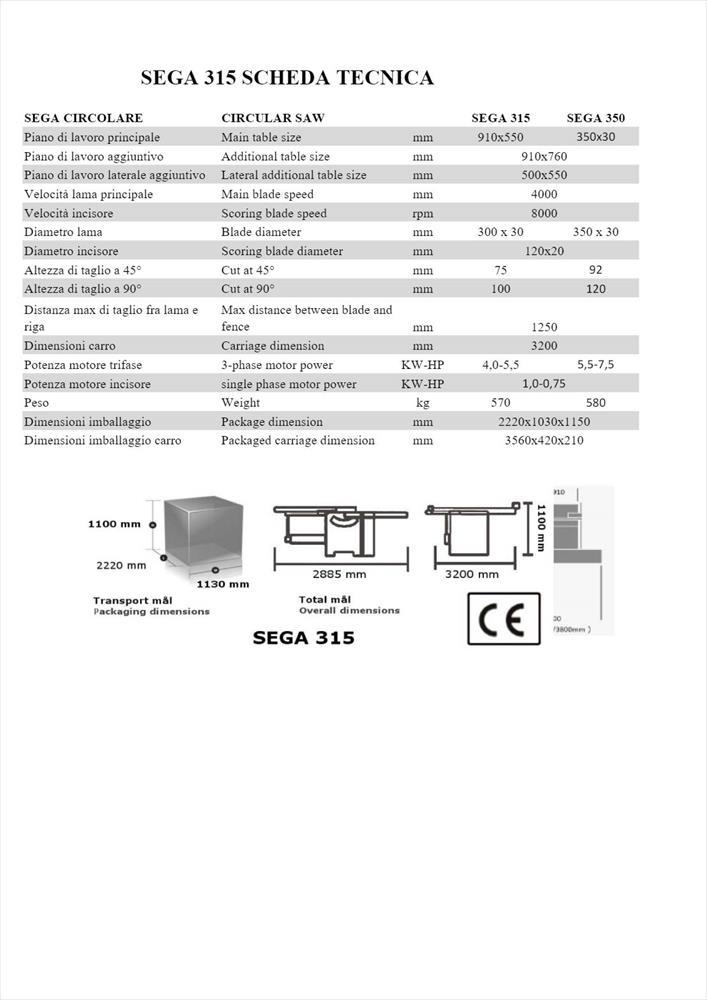 Srovnávací stroj MA.CO.2.L.sega 315 - Foto 7