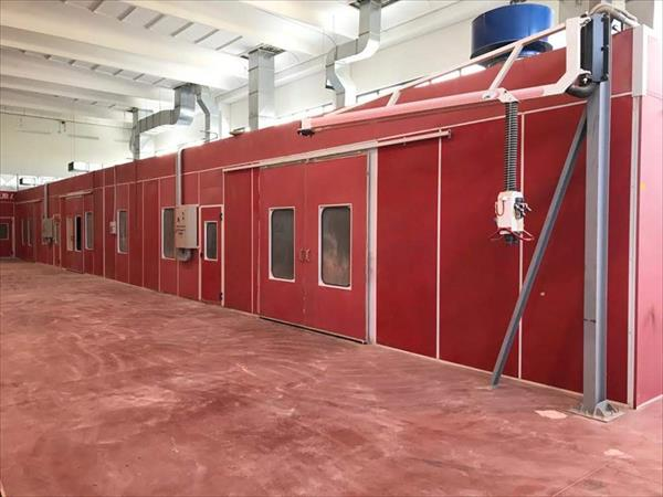 Saico pressurized painting booth
