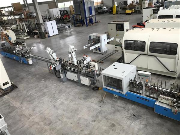 Line of finisher and coating machine in Barbera veneer