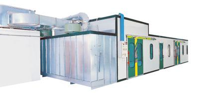 Olimpia pressurized painting booth