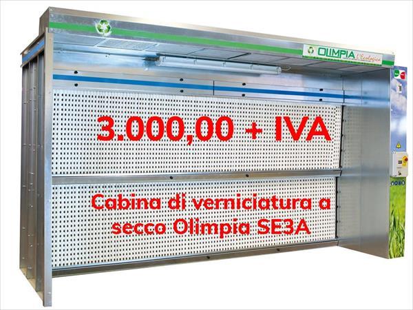 Stříkací kabina Olimpia v akci
